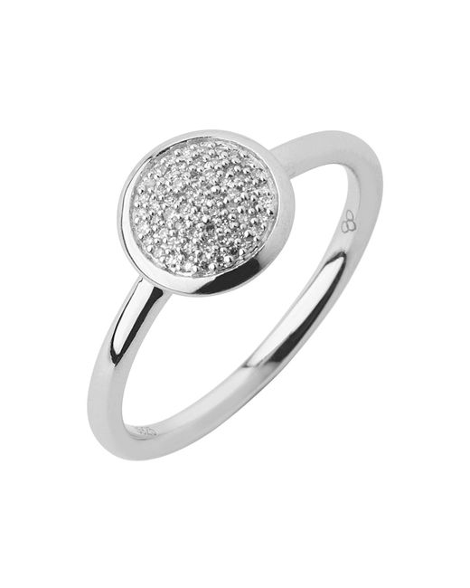 Links of London | Metallic Diamond Essentials Pave Ring - Ring Size P | Lyst