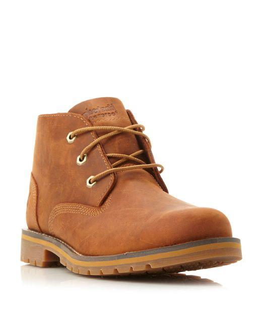 Timberland - Brown A12es Waterproof Nubuck Chukka Boots for Men - Lyst