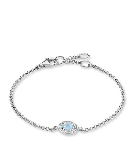 Thomas Sabo | Blue Light Of Luna Milky Aqua Silver Bracelet | Lyst
