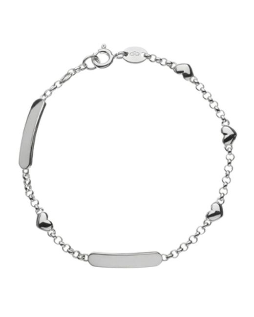 Links of London | Metallic Hearts Id Bracelet | Lyst