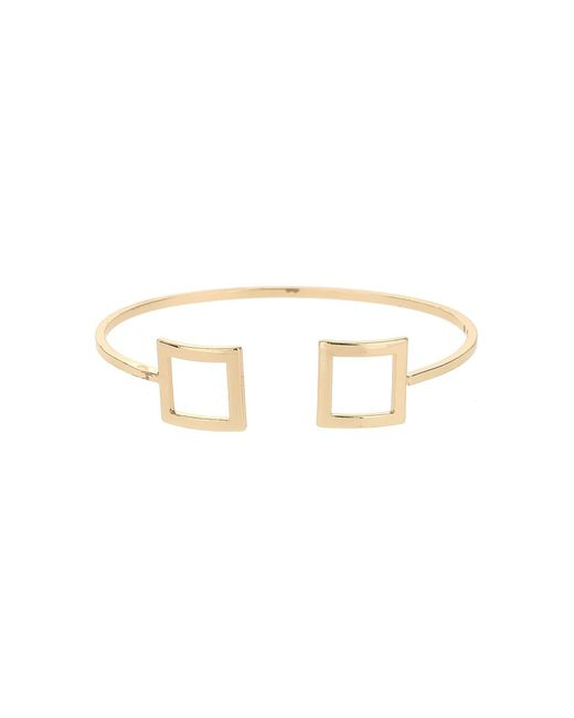 Mikey | Metallic Square Both End Cuff Bracelet | Lyst
