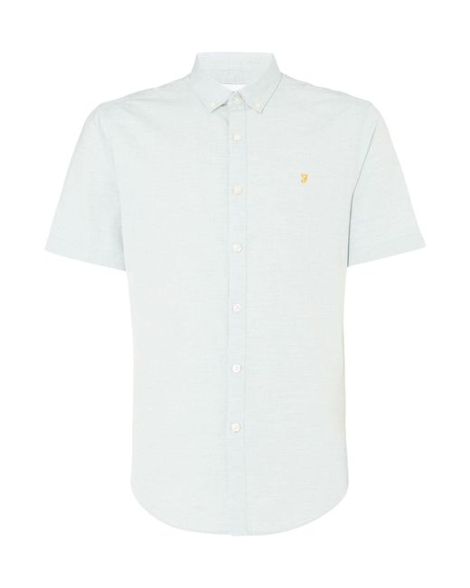 Farah   White Steen Slim Fit Short Sleeve Shirt for Men   Lyst