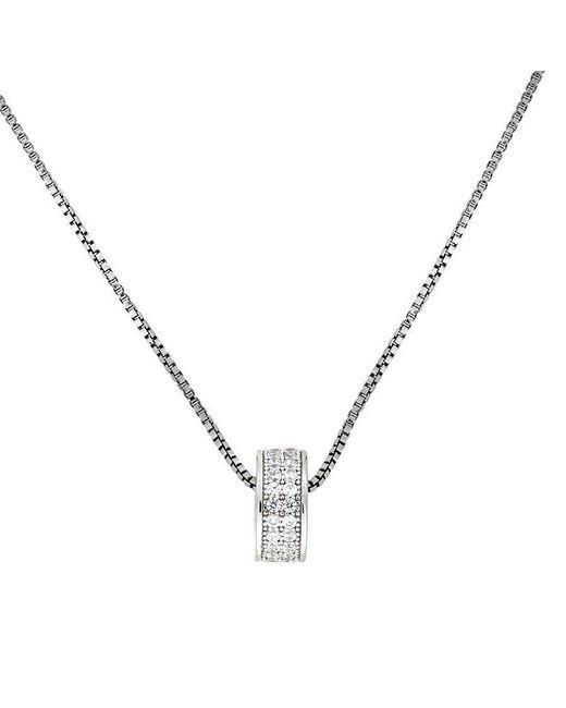 Azendi | Metallic Silver Pavé Slider Pendant | Lyst