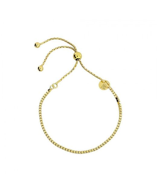 Azendi | Metallic Gold Vermeil Box Chain Adjust Bracelet | Lyst