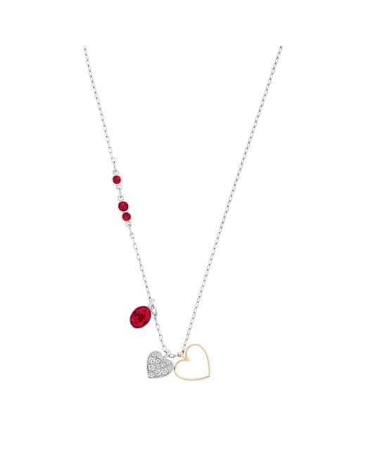 Swarovski   Multicolor Duo Heart Pendant   Lyst