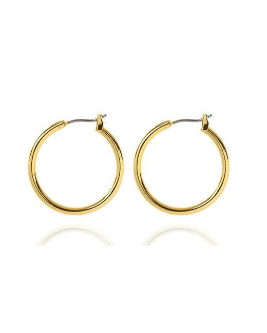 Anne Klein | Metallic Classic Gold Tone Hoop Earrings | Lyst