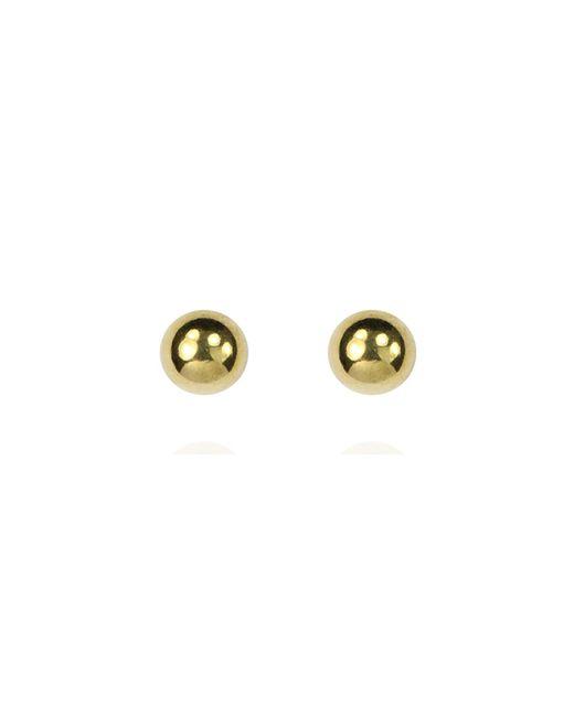 Anne Klein | Metallic Gold Tone Ball Stud Earrings | Lyst