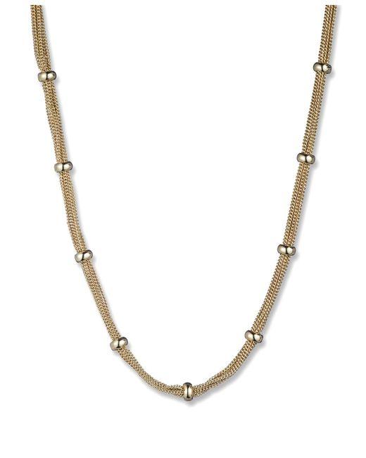 Anne Klein | Metallic Mesh Strand Necklace | Lyst