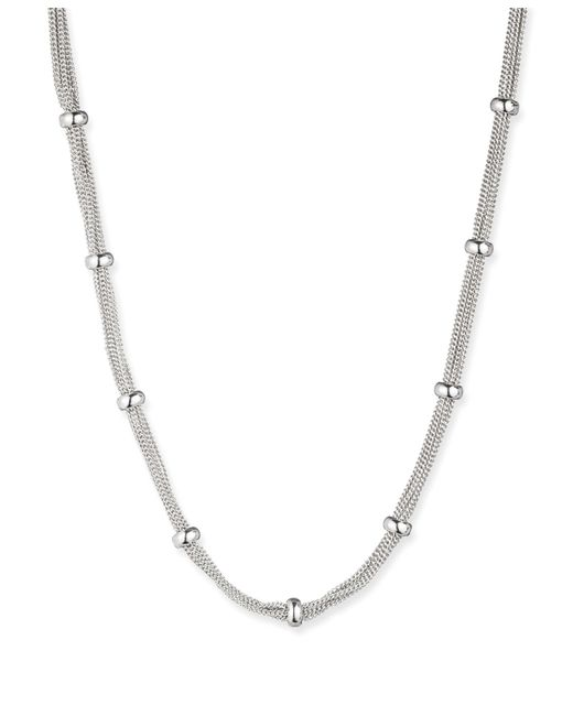 Anne Klein | Metallic Silver Tone Classic Mesh Necklace | Lyst