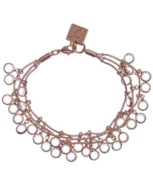 Anne Klein | Metallic Gold Tone Classic Mesh Bracelet | Lyst