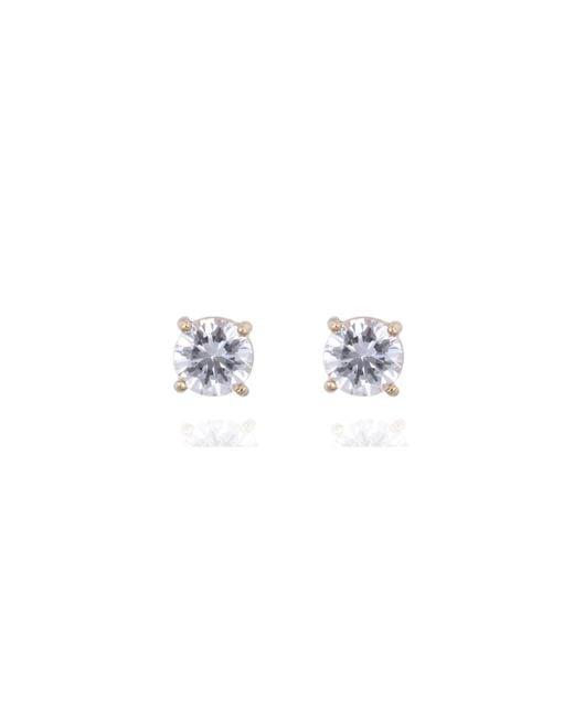Anne Klein | Metallic Silver Pearl Stud Earrings | Lyst