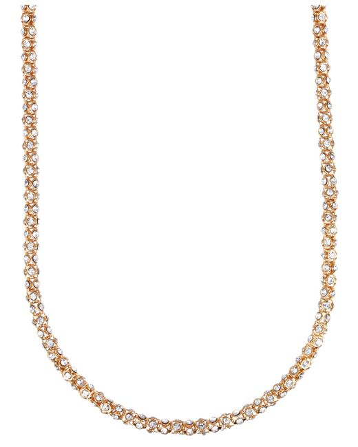 Anne Klein | Pink Tube Pave Strand Necklace | Lyst