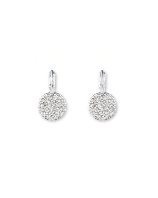 Anne Klein | Metallic Gold Tone Crystal Stud Earrings | Lyst