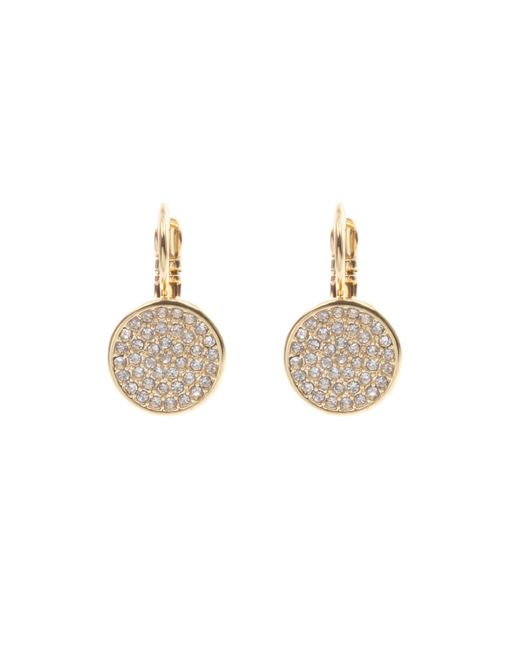 Anne Klein | Metallic Gold Tone Crystal Drop Earrings | Lyst