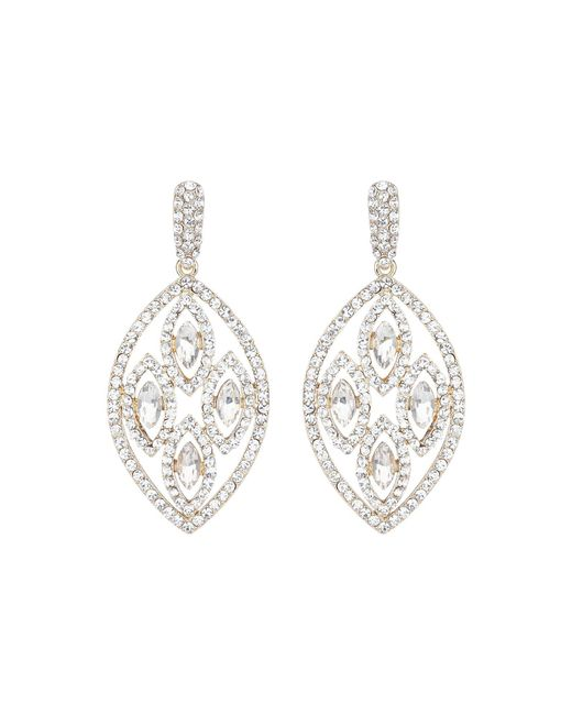 Mikey | White Filligree Multi Ovals Drop Earring | Lyst