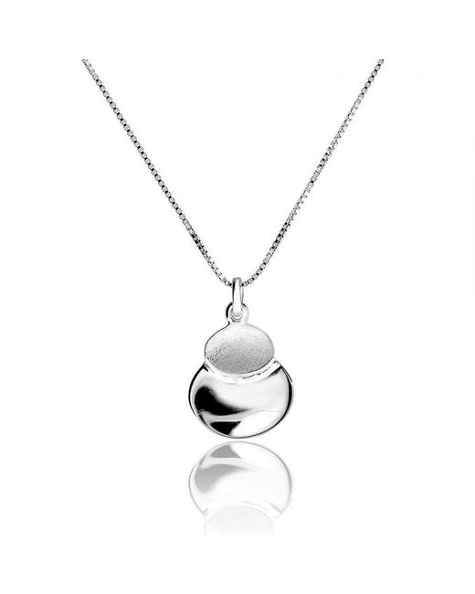 Azendi | Metallic Silver Twin Ovals Pendant | Lyst