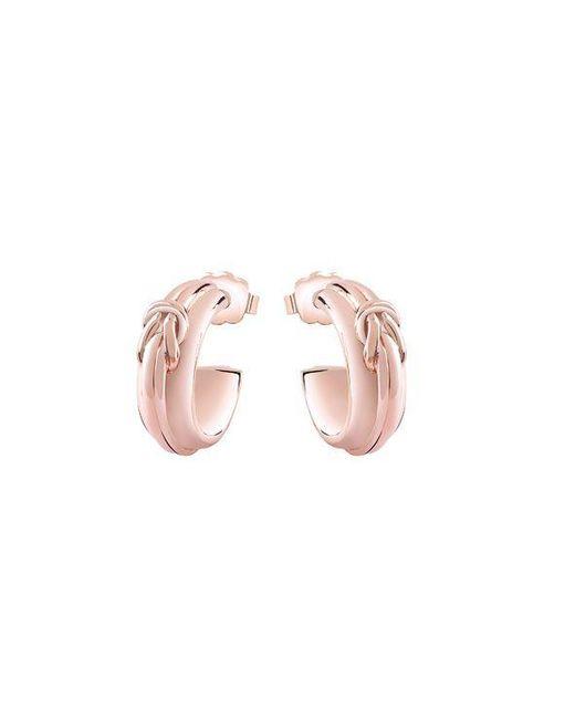 Guess | Pink Tied In Knots Earrings | Lyst