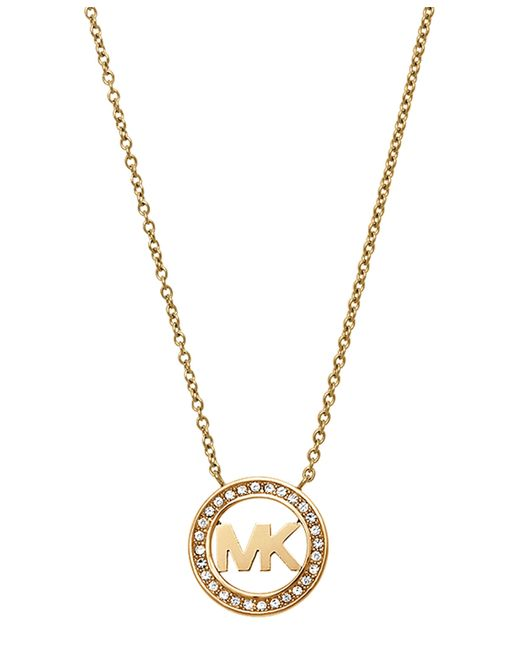 Michael Kors | Metallic Mkj4732710 Ladies Logo Pendant Necklace | Lyst
