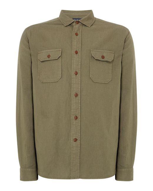 Howick - Green Men's Linen Safari Double Pocket Shirt for Men - Lyst