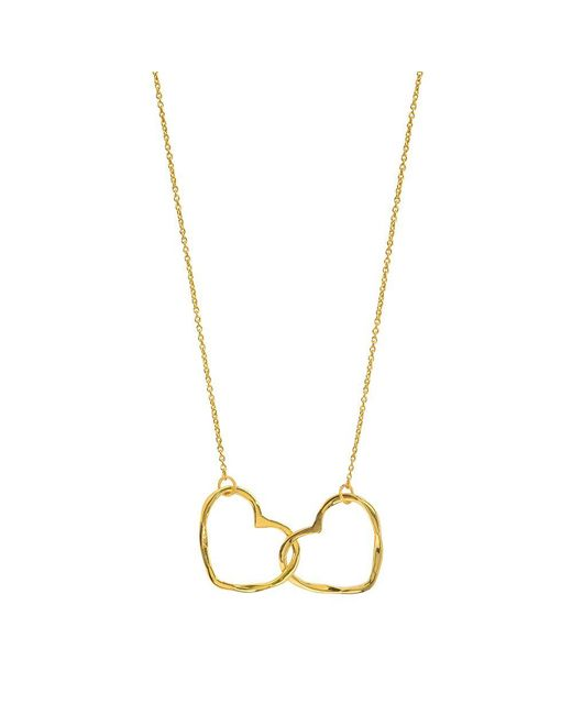Juvi Designs | Metallic Gold Vermeil Hearts Entwined Pendant | Lyst
