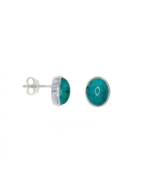 Azendi | Blue Turquoise Stud Earrings | Lyst