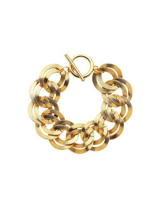 Monet | Metallic Gold Double Textured Links Bracelet | Lyst