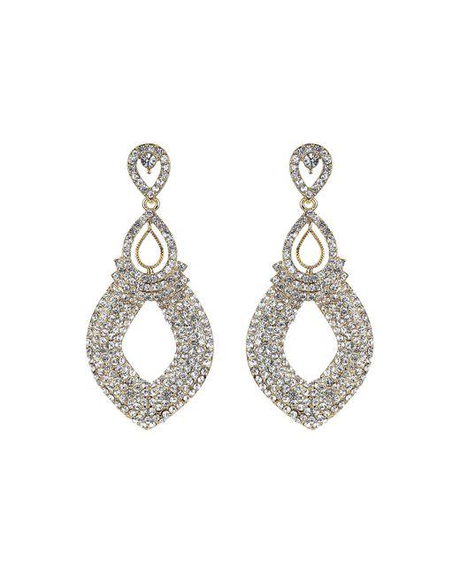 Mikey | Metallic Twin Oval Loop Crystal Drop Earring | Lyst