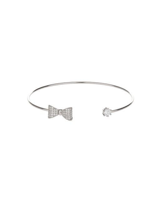 Mikey | Metallic Bow End And Cubic End Cuff | Lyst