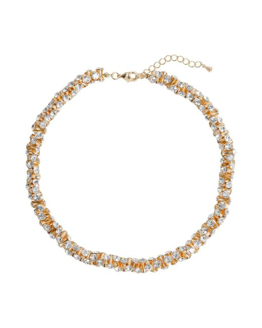 Mikey | Metallic Cubic Dumbell Beads Linked Necklace | Lyst