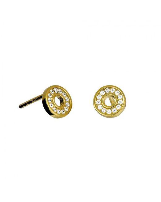 Azendi | Metallic Gold Vermeil Circle Studs | Lyst