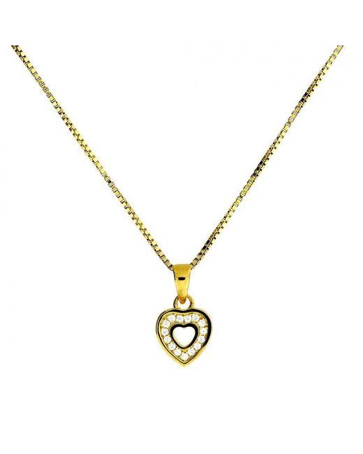 Azendi   Metallic Gold Vermeil Heart Pendant   Lyst