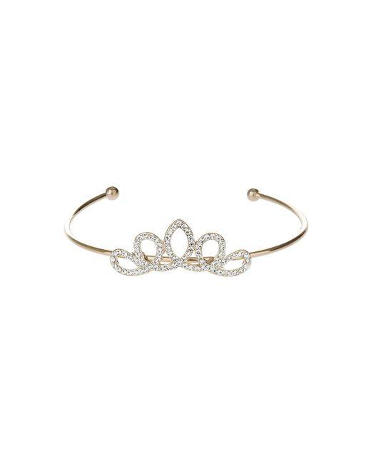 Mikey | Metallic Edged Crown Design Cuff Bracelet | Lyst
