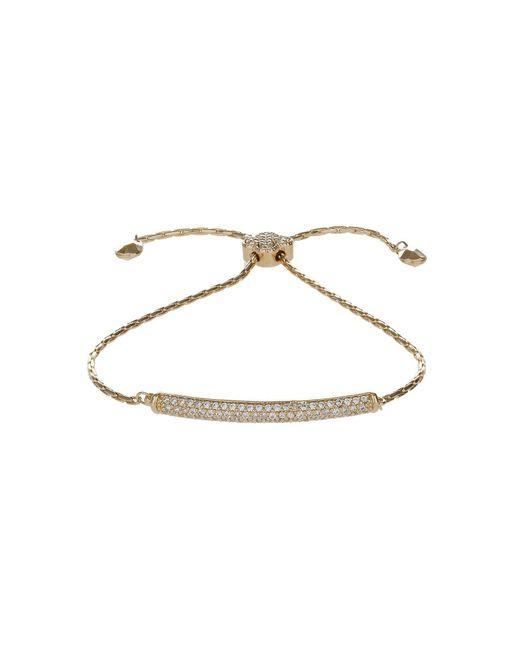 Mikey | Metallic Cubic Id Shamrock Lock Tie Up Bracelet | Lyst