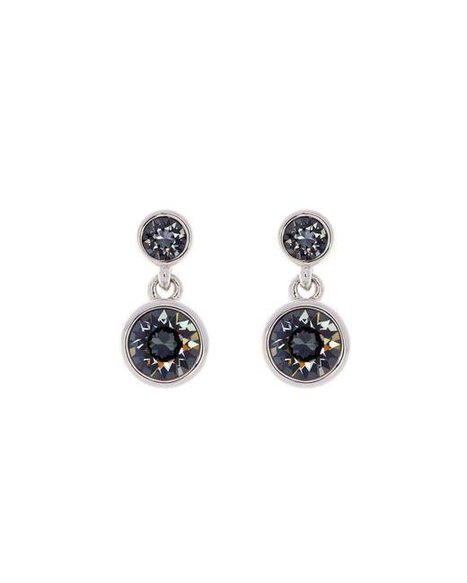 Karen Millen | Metallic Silver & Grey Crystal Dot Drop Earring | Lyst