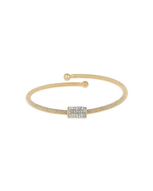Mikey | Metallic Crystal Embed Tube Spring Bracelet | Lyst