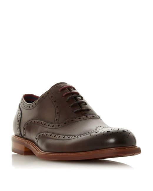 Dune Brown Pollodium Coloured Sole Brogues for men