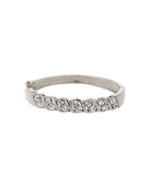 Mikey   Metallic Zig Zag Design Crystal Cuff Bracelet   Lyst