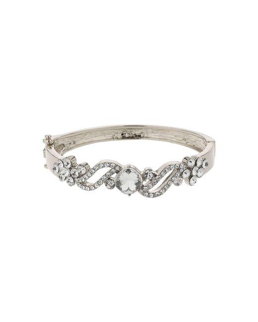 Mikey | Metallic Filigree Twist Crystal Centre Bracelet | Lyst
