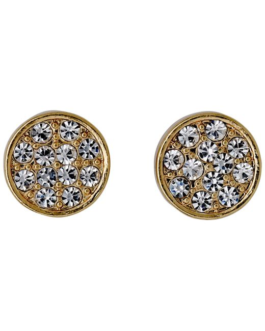 Pilgrim | Metallic Gold Plated With Crystals Earrings | Lyst