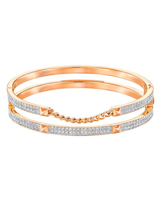 Swarovski | Metallic Fiction Bangle | Lyst