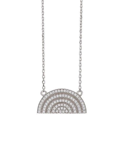 Mikey | Metallic Sterling Silver 925 H Moondesign Pendant | Lyst