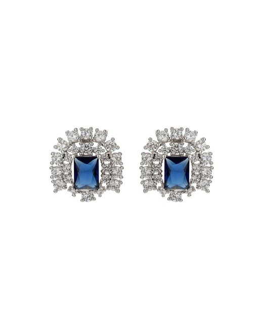 Mikey | Multicolor Cubic Square Centre Stud Earring | Lyst
