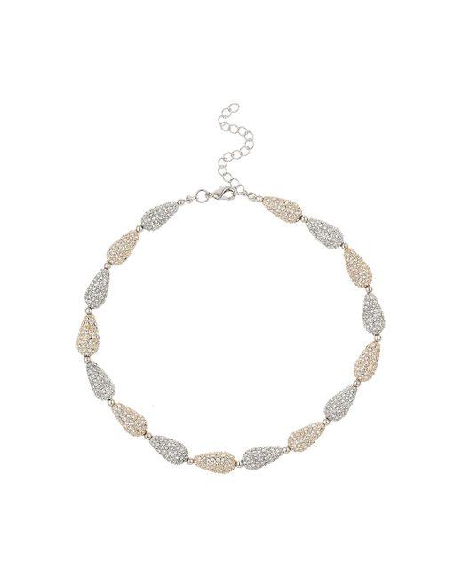 Mikey   Metallic Oval Crystal Bead Elastic Necklace   Lyst