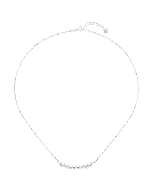Mikey - Metallic Silver Crystal Crescent Pendant - Lyst