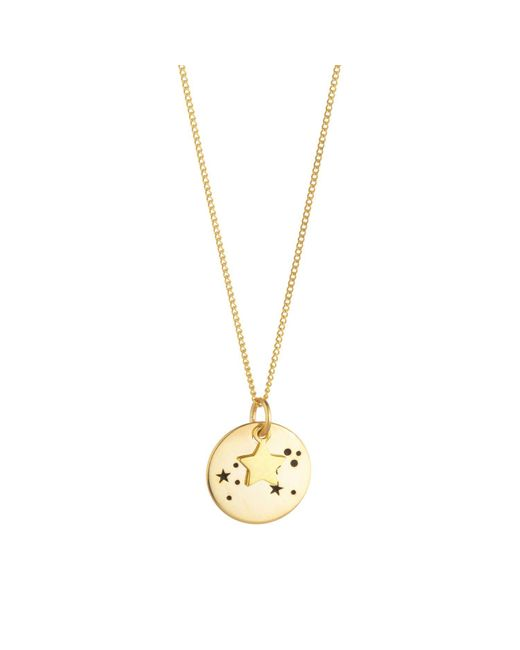 Juvi Designs | Metallic Constellation Gold Pendant | Lyst