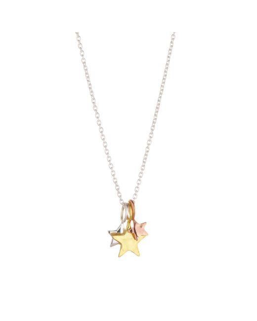 Juvi Designs | Metallic Three Star Silver Pendant | Lyst