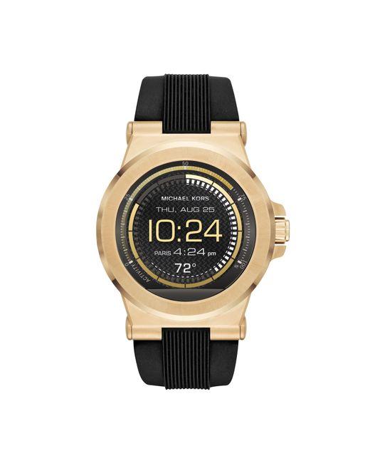 Michael kors Mkt5009 Mens Strap Smart Watch in Black for ...