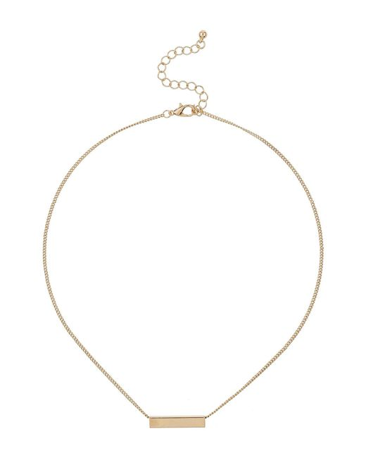 Mikey | Metallic Long Chain Square Tube Necklace | Lyst