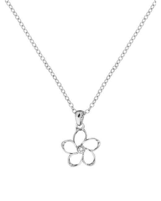 Ted Baker   Metallic Betje Silver Crystal Blossom Pendant   Lyst