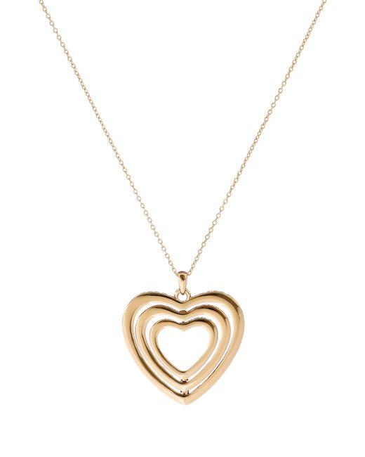 Ted Baker | Metallic Helinna Gold Crystal Heart Pendant | Lyst